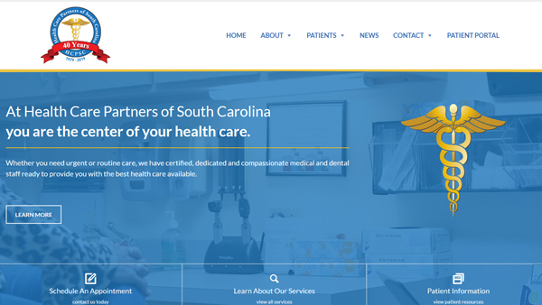 Health Care Partners of South Carolina website